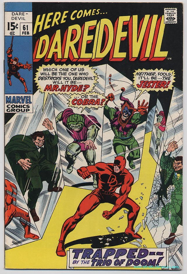 Image of Daredevil 61 provided by StreetLifeComics.com
