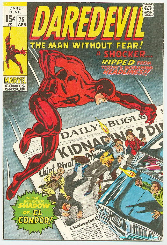 Image of Daredevil 75 provided by StreetLifeComics.com