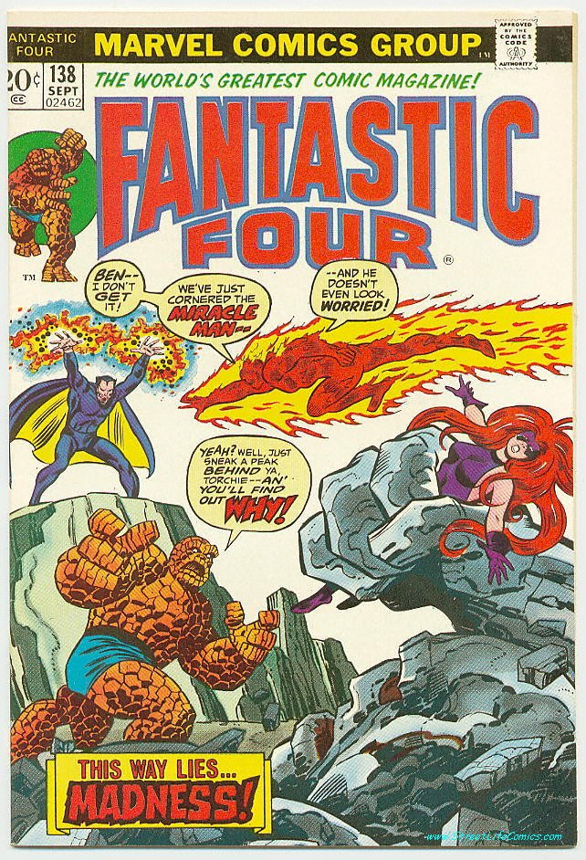 Image of Fantastic Four 138 provided by StreetLifeComics.com