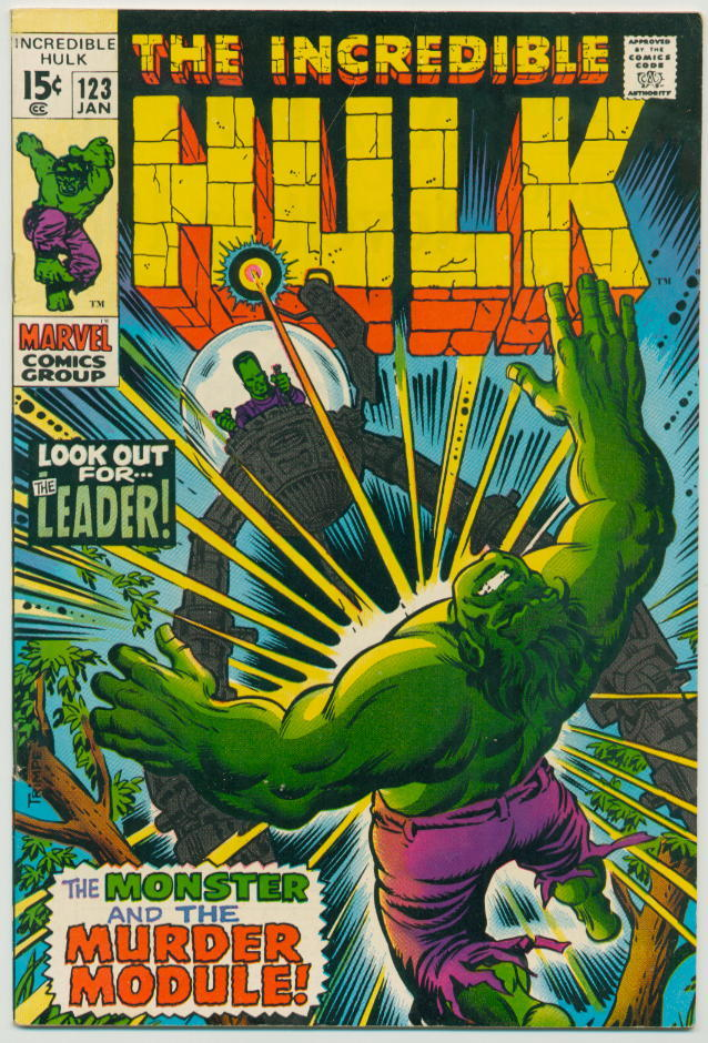 Image of Incredible Hulk 123 provided by StreetLifeComics.com
